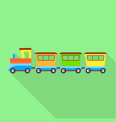 new train toy icon flat style vector image