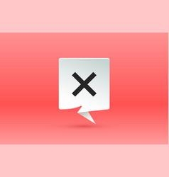 no sign paper speech bubble cloud talk vector image