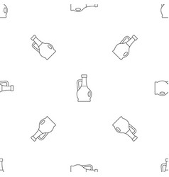 olive bottle icon outline style vector image