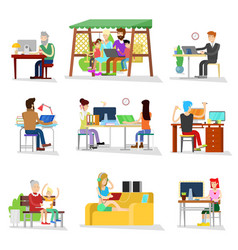 people work business worker or person vector image