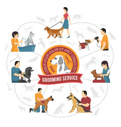 Qualified grooming service background vector