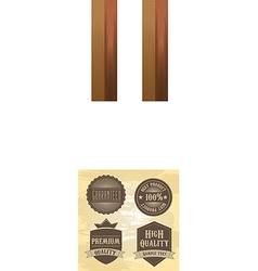 Retail design elements vector