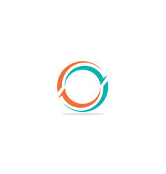 Round curve circle colored logo vector