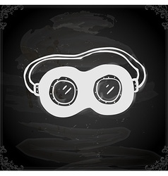 Safety Glasses Drawing on Chalk Board vector image