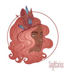 sagittarius astrological sign vector image
