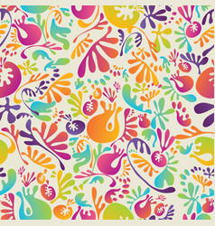 Seamless pattern with abstract organic forms vector