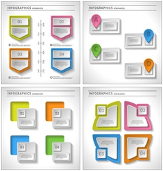 set 4 in 1 business infographics elements vector image
