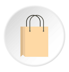 shopping bag icon circle vector image