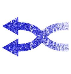 Shuffle arrows left grunge textured icon vector