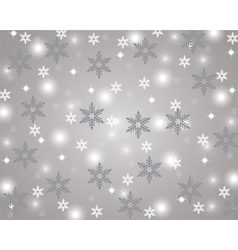 Silver Christmas background vector image