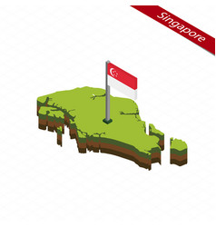 Singapore isometric map and flag vector