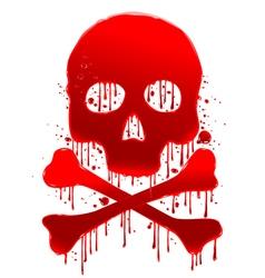 Skull blood vector