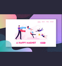 smm influencer strategy website landing page vector image