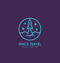 space travel logo vector image