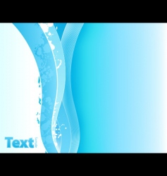 Splatter lined art waves vector
