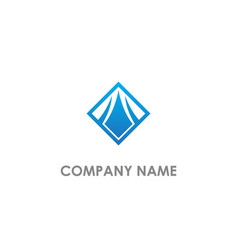 square arrow building logo vector image