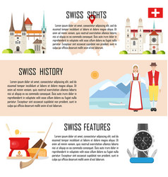 switzerland banners collection vector image