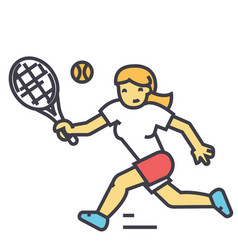 Tennis championship woman player in sport vector
