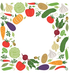 vegetables place for your text vector image