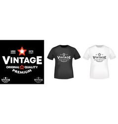 vintage t-shirt print for t shirts applique vector image