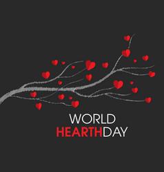 World hearth day tree design vector