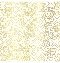 Golden White Abstract Swirls Seamless vector image vector image
