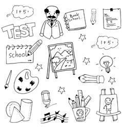 Hand draw school doodles vector image vector image