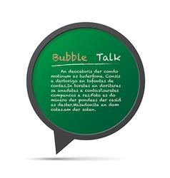 3d bubble talk frame design element eps10 vector