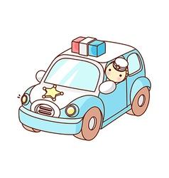 A patrol car vector image vector image