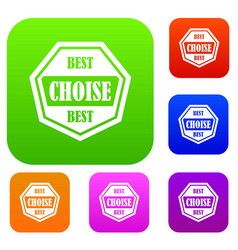 best choise label set collection vector image vector image