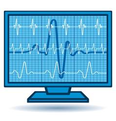 Cardiogram monitor vector image vector image