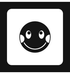 Confused emoticon icon simple style vector image