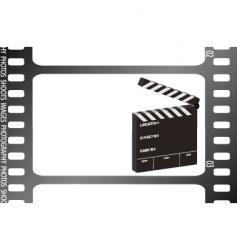 film strip clapper vector image