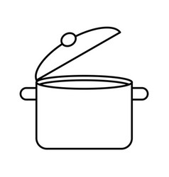 kitchen pot isolated icon vector image