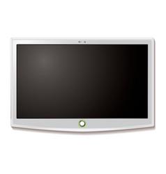 LCD TV wall hang white vector image