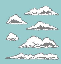 set of cloud elements vector image vector image