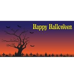 Happy Halloween Card banner Halloween vector image
