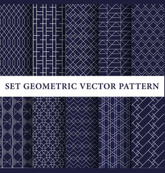 luxury patterns pack vector image vector image