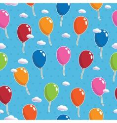 balloon pattern seamless vector image vector image