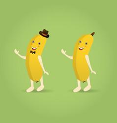 cartoon banana character vector image
