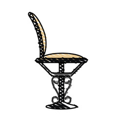 Color crayon stripe elegant dining chair vector
