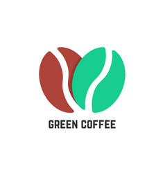 green coffee logo like beans vector image vector image