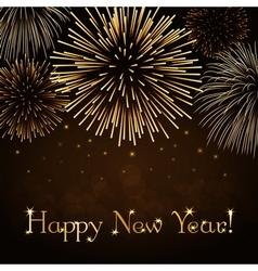 Happy new year firework background vector