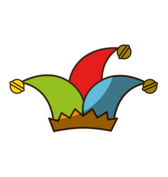 jester hat accesory vector image vector image