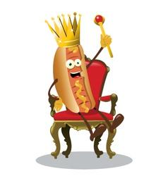 king hot dog vector image