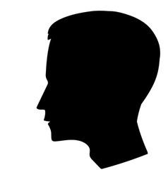 man head silhouette vector image