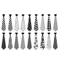 set of ties with different patterns vector image vector image