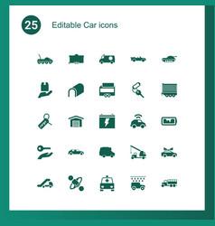 25 car icons vector