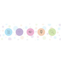 5 tack icons vector
