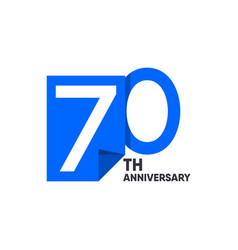 70 th anniversary celebration your company vector